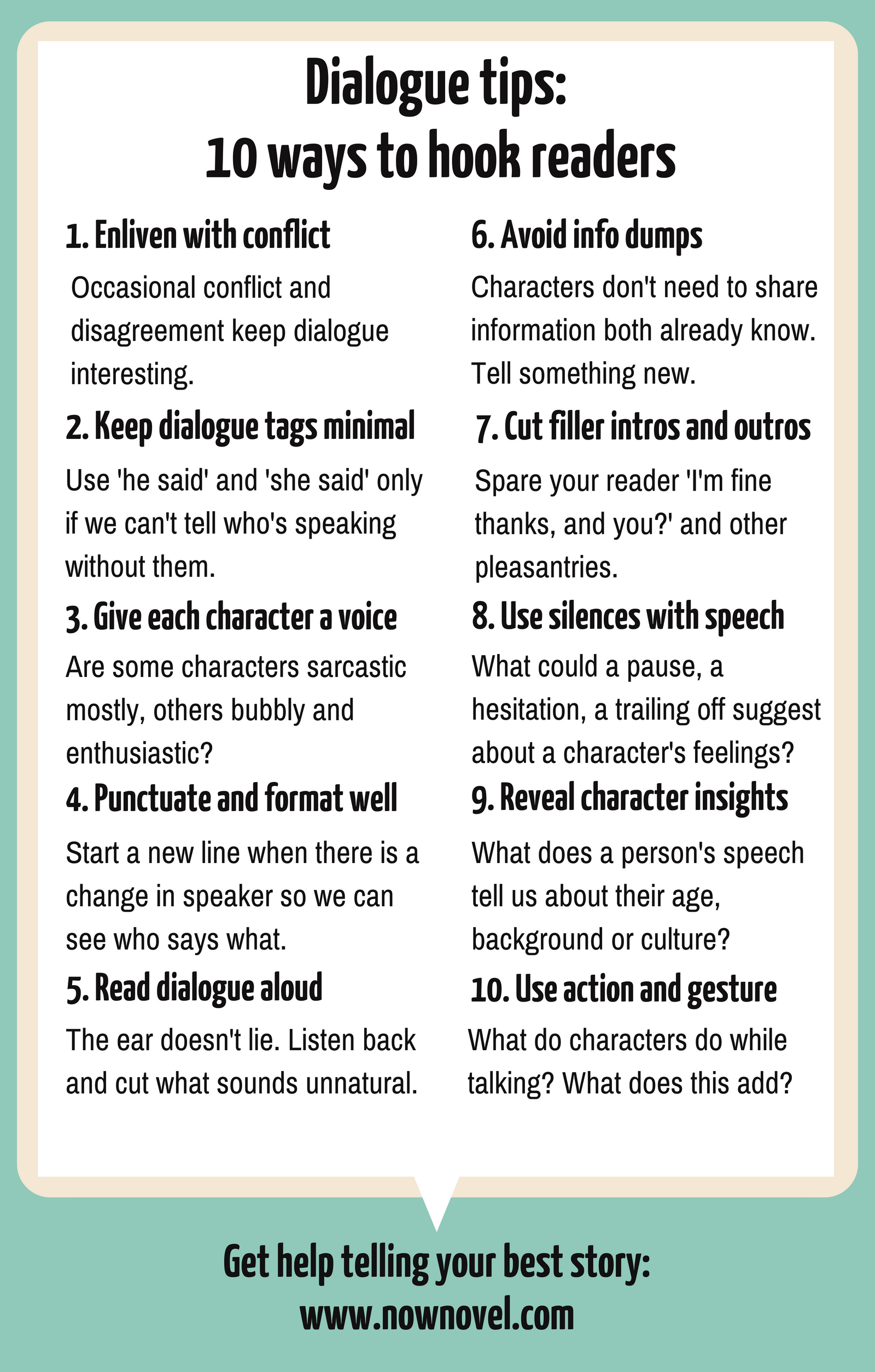 18 Dialogue Tips to Hook Readers  Now Novel  Book writing tips