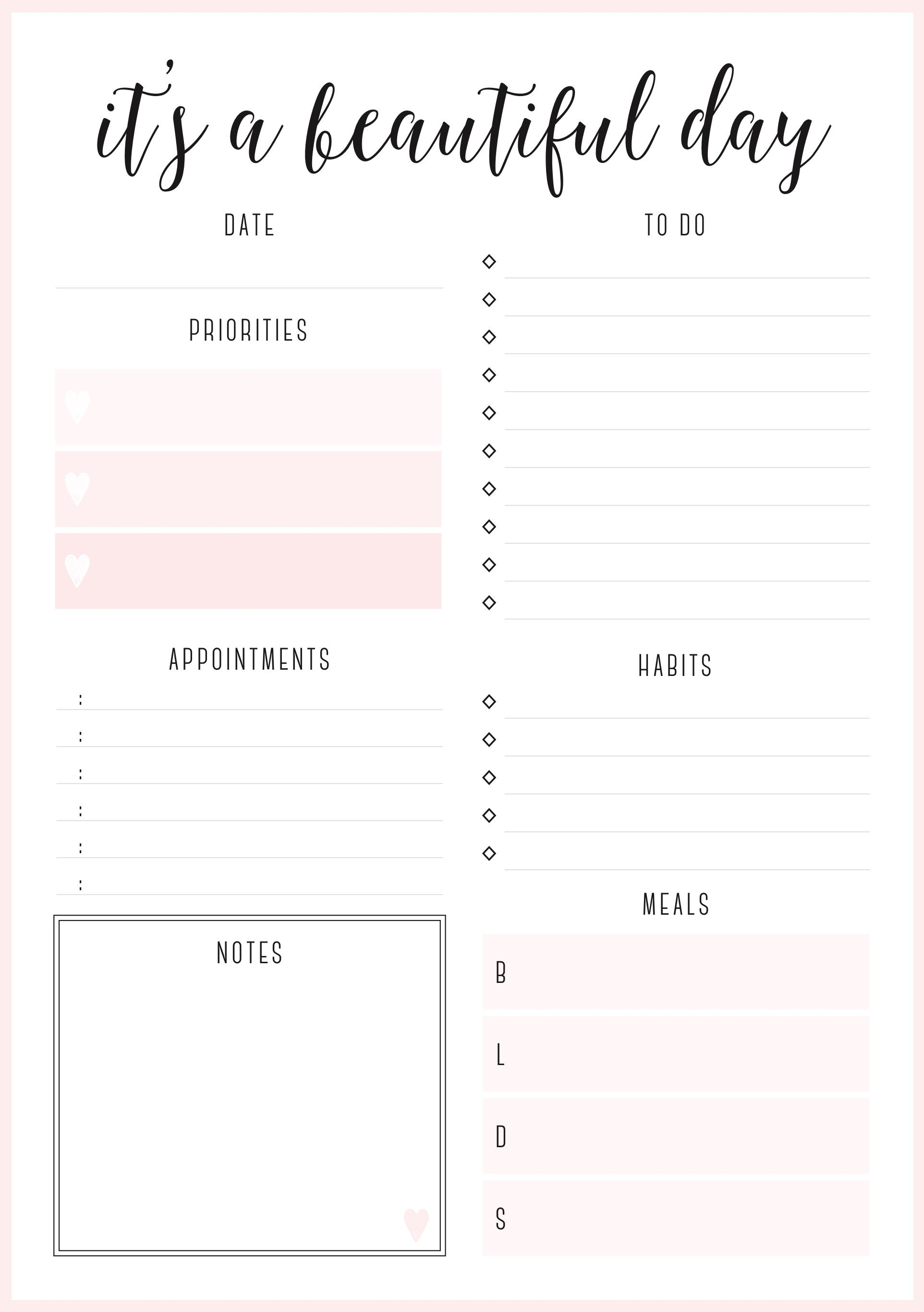 free printables planner # 7