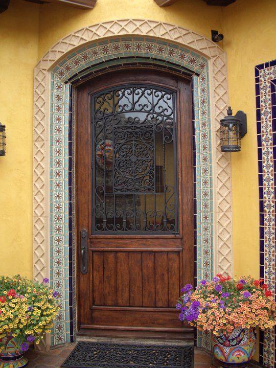 Tierra Y Fuego Tiles Surround This Front Door Entry