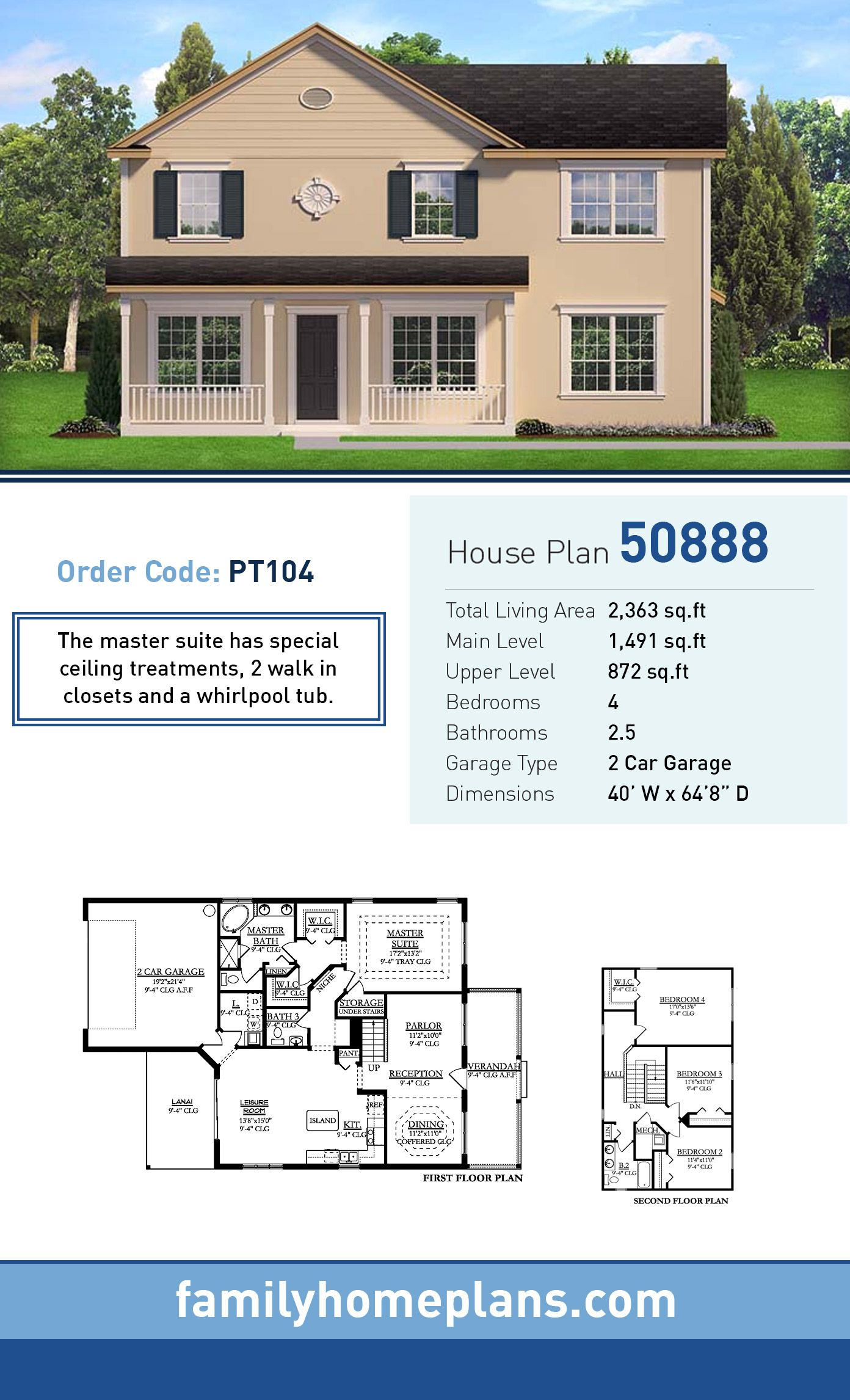 Colonial House Plan