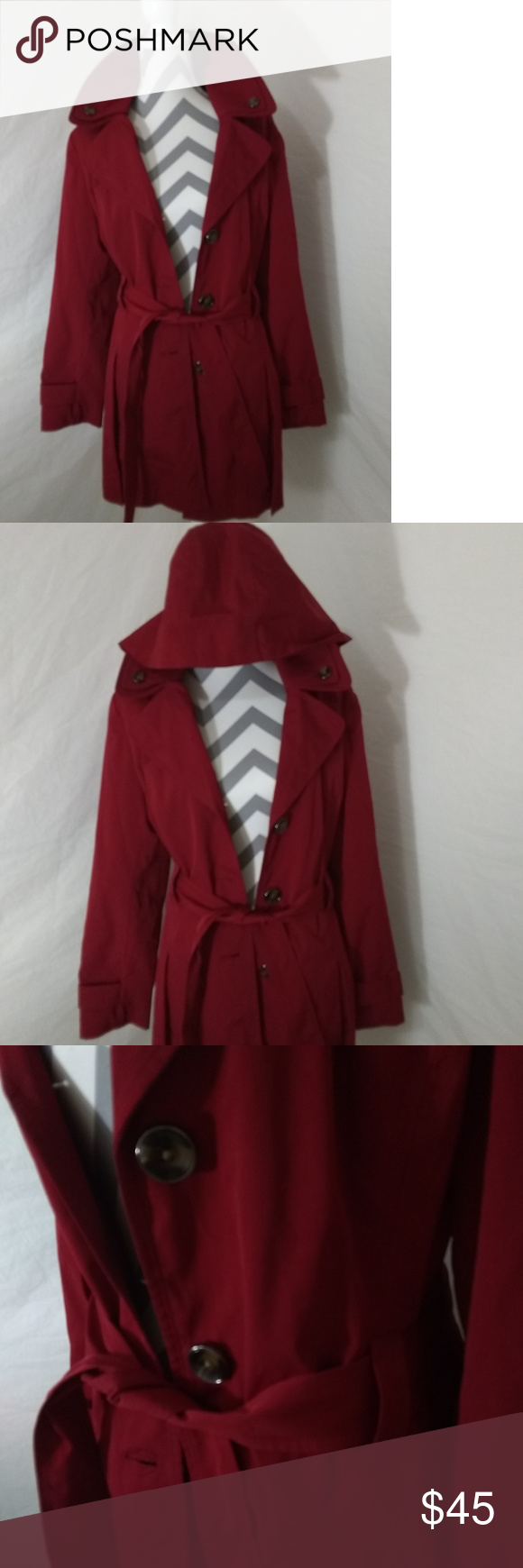 Red Liz Claiborne Coat This Is A Very Nice Red Coat Has A Detachable Hood Size Large In Excellent Condition Mid Thigh Len Fashion Clothes Design Fashion Design [ 1740 x 580 Pixel ]