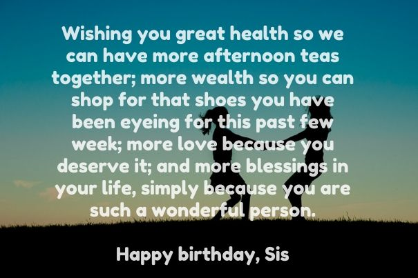 Inspirational Birthday Message For Sister In Law