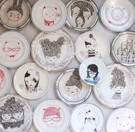 prettylittlethieves-porcelaen-porcelain-keramik-plate-tallerken-kusnt-interior