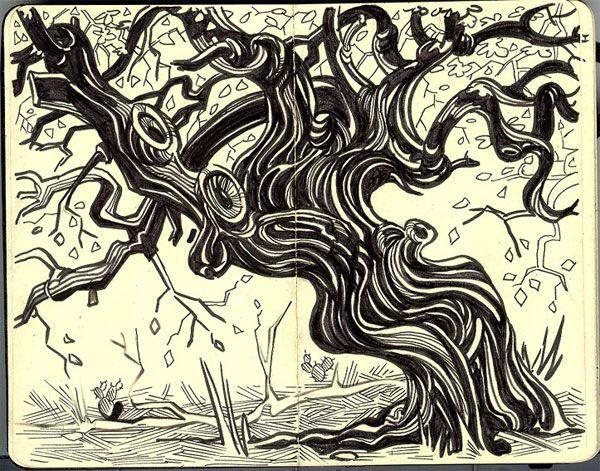 Susan Rudat has some lovely line work in her Moleskine ink