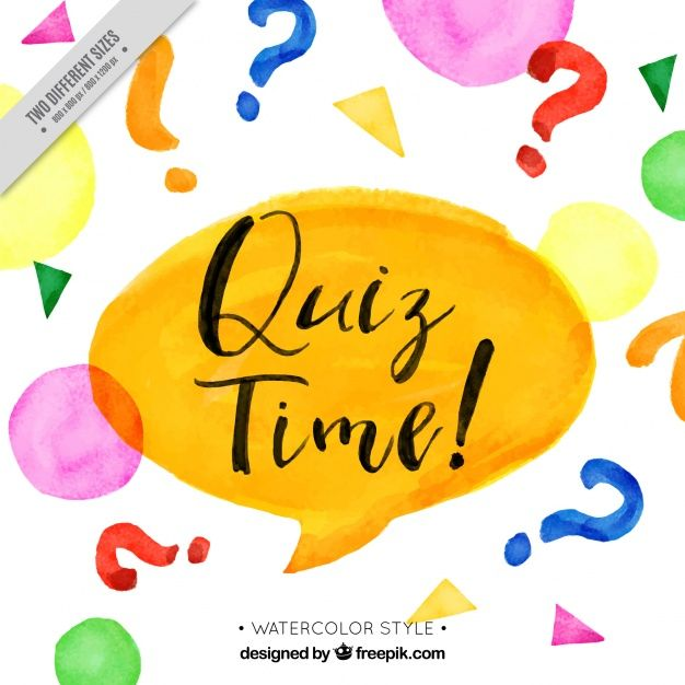 Download Quiz Background With Speech Bubble In Watercolor Style
