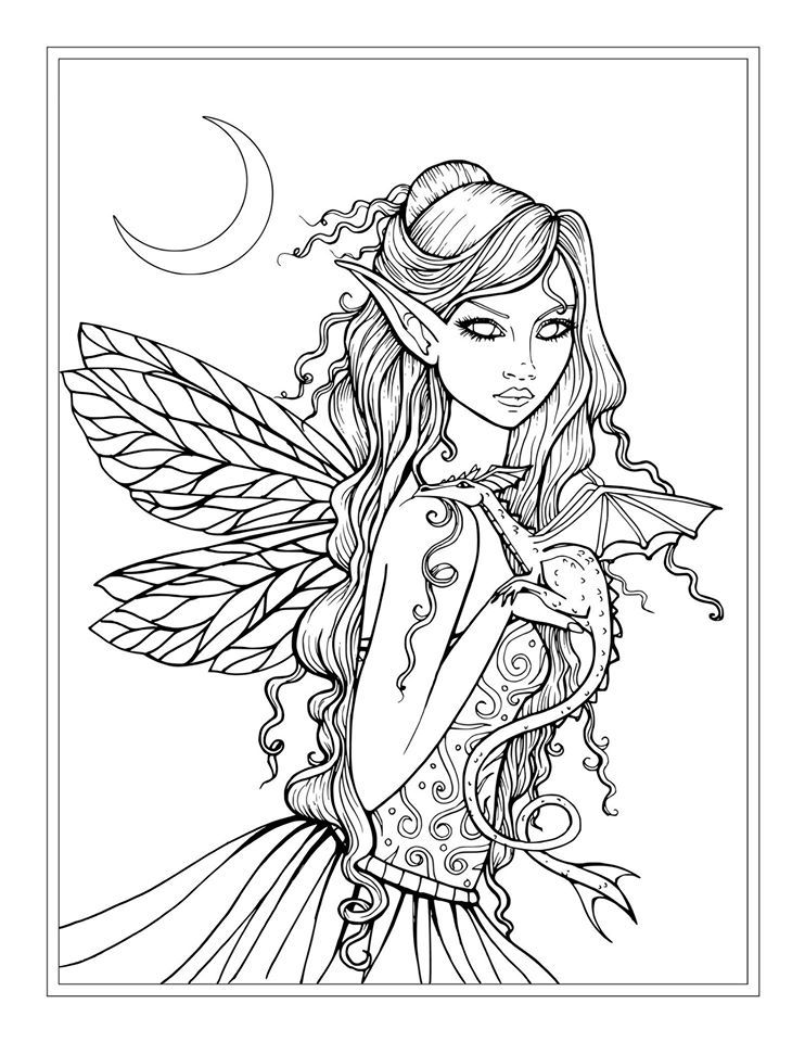 free mystical coloring pages - photo#19