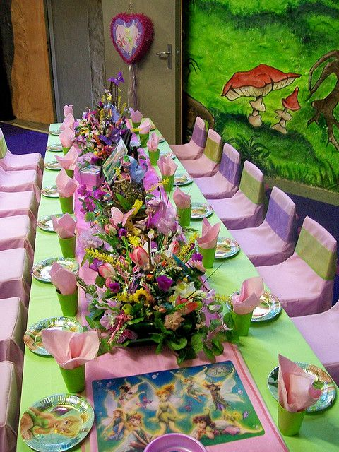 Tinkerbell Birthday Party Table Idealove love love the fresh