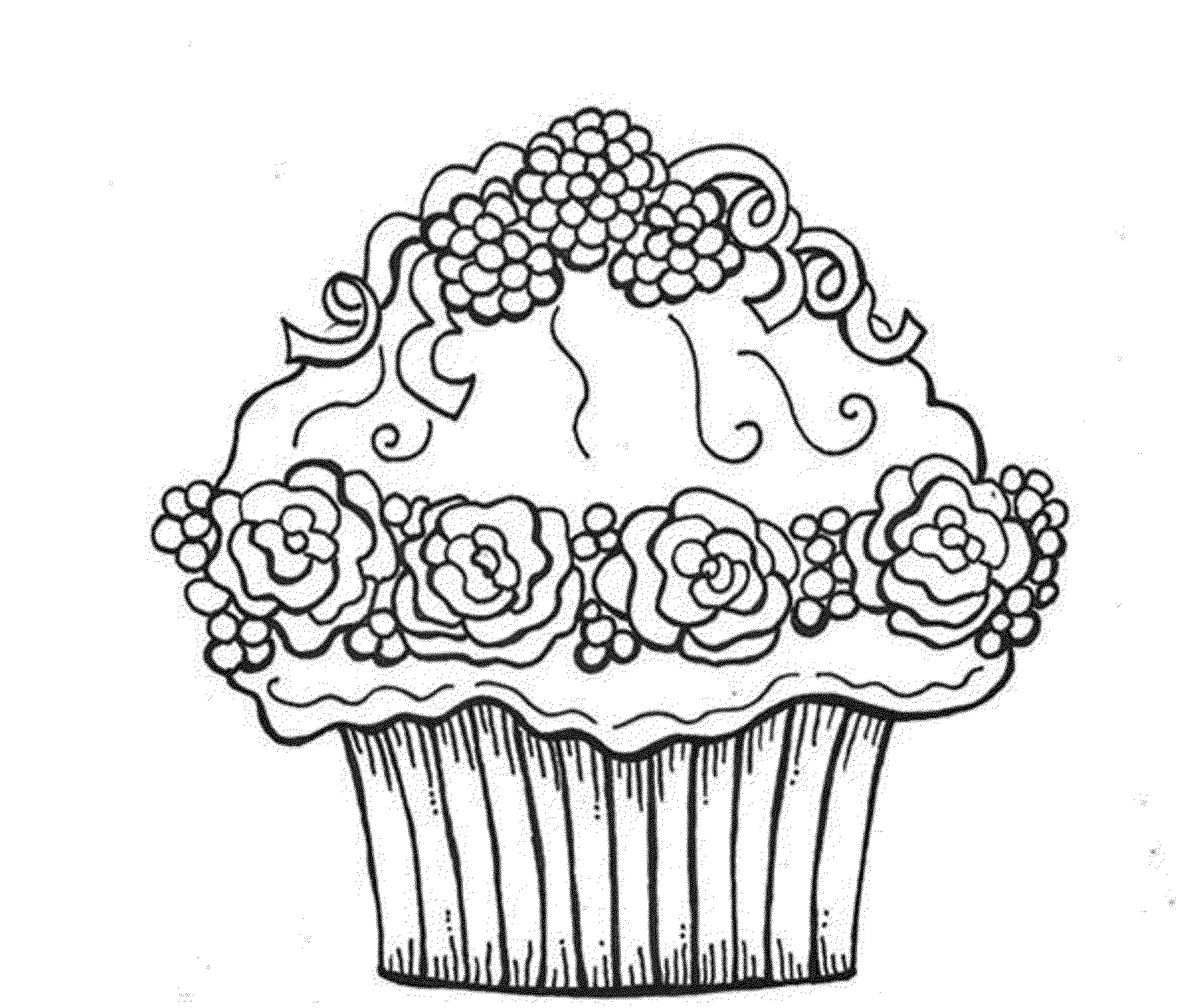 Coloring Pages Of Cupcakes Gallery Photos | Happy Birthday coloring ...