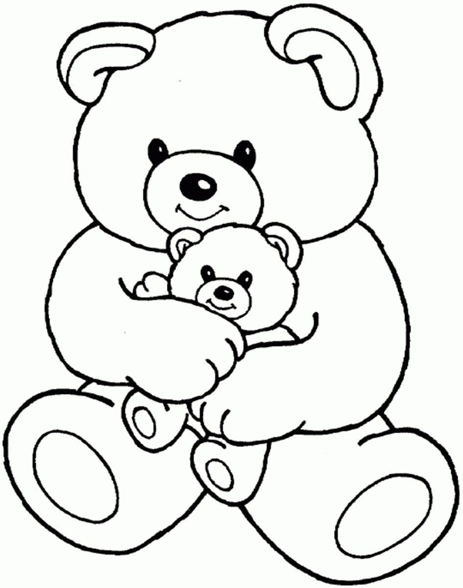 Картинка мишка для детей раскраска, картинки розы