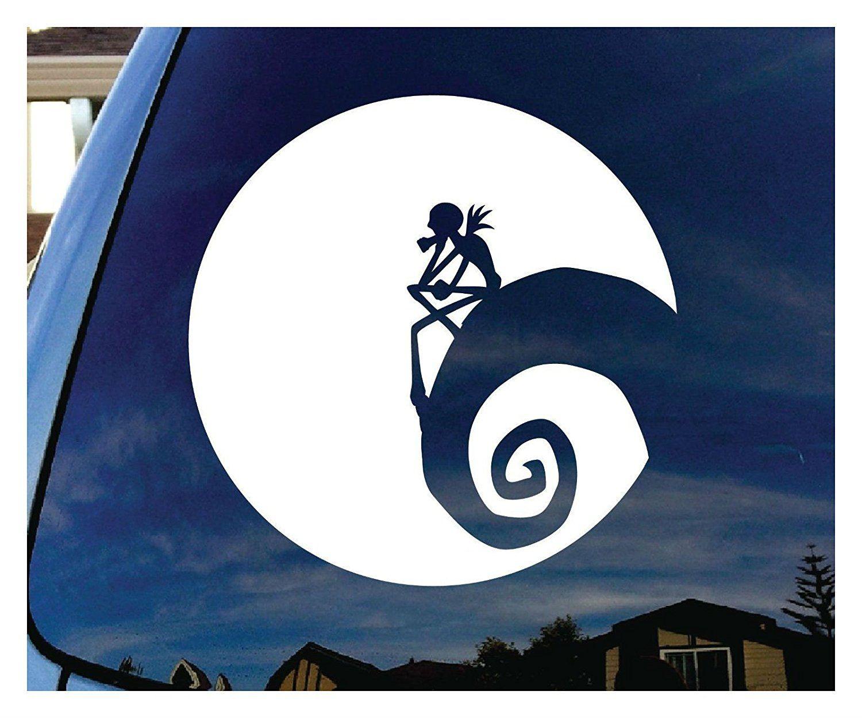 Amazon com jack nightmare before christmas moon car window vinyl decal sticker 5 wide automotive