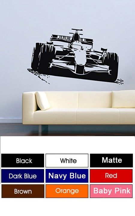 Cool car sport race formula 1 man cave garage home kids room wall decals vinyl decor
