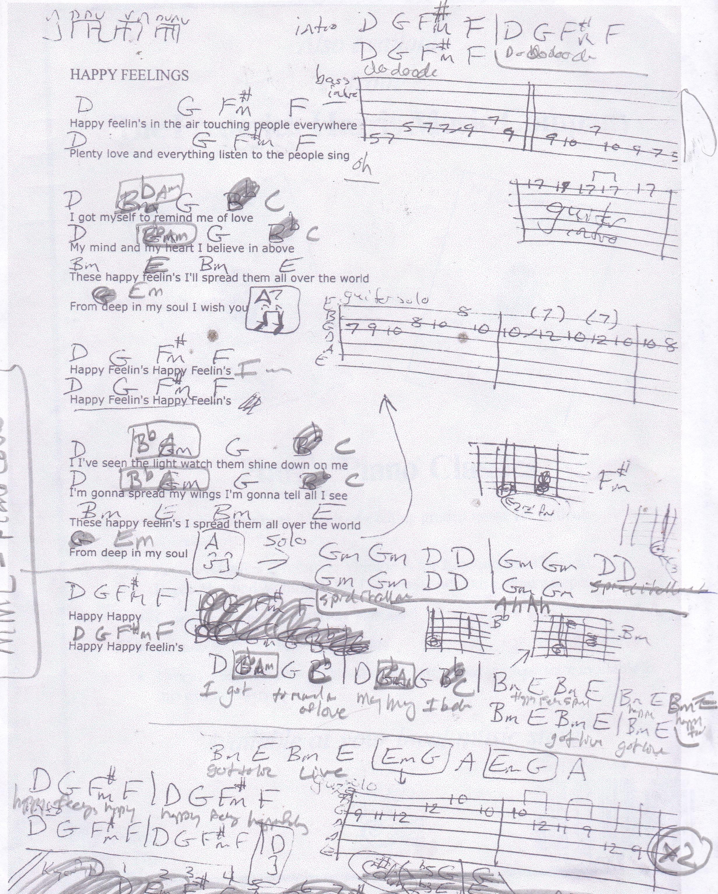 Happy Feelings Maze Guitar Chord Chart Guitar Lesson Chord