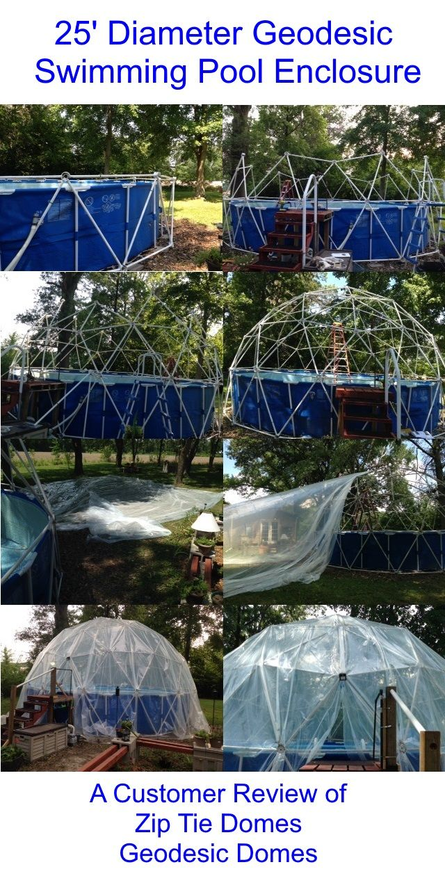 Customer Review 3v 5 8 Geodesic Dome Hubs Only Kit Pool Canopy Swimming Pool Enclosures Backyard Pool Landscaping