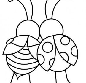 Love Bug Coloring Sheetlove Bug Coloring Sheet Disenos De Arte