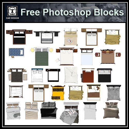 Free Photoshop PSD Bed Blocks 1
