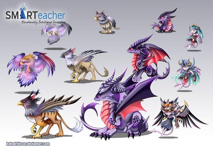 Prodigy Air Monsters By Kokodriliscus On Deviantart Chibi Prodigy Math Game Prodigy Math Dragon Drawing