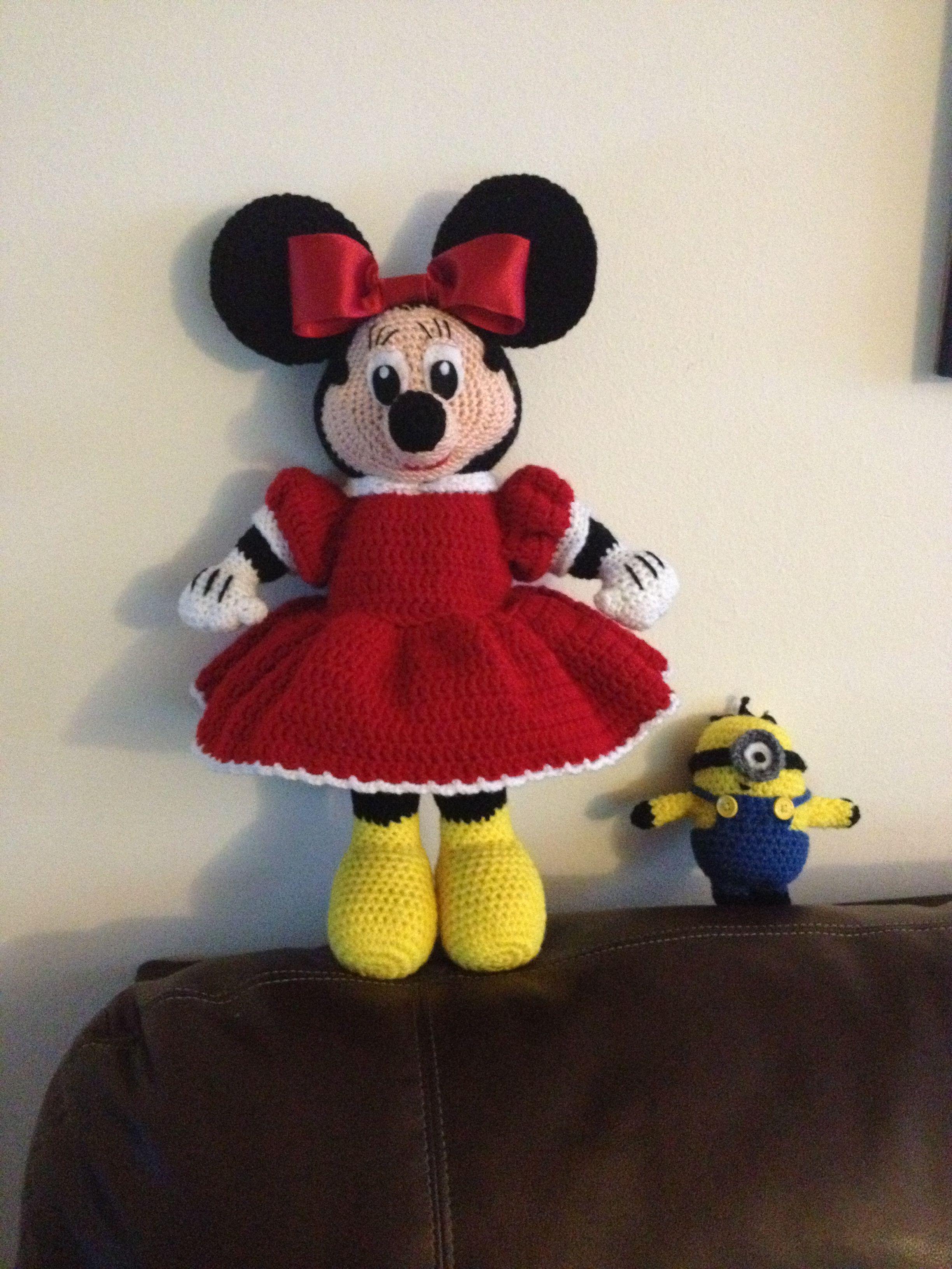 Crochet Minnie Mouse!! | My Work! | Pinterest | Patrón de ganchillo ...