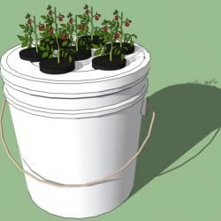 how to make a simple 5 gallon bucket aeroponics system garden