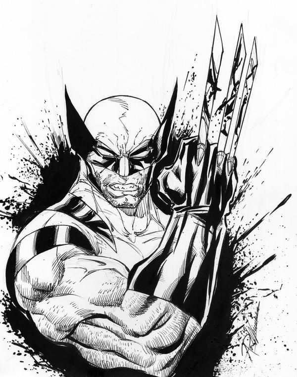 Wolverine body tattoo sketch | Tattoos | Pinterest | Serigrafias ...