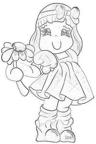 Meninas Riscos Para Pintura Desenho De Crianca Pintura Infantil
