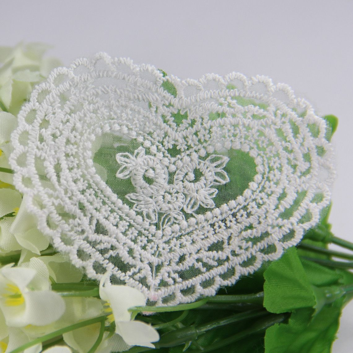 $12.5 for  20 PCS Free Shipping LA092 Handmade DIY Cotton Lace Embroidery Craft Sewing Trim Heart Appliques on DIY Lace Garden ( Min. Order US$10 ). $12.50