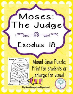 Cathy S Corner Moses The Judge Bible Lessons For Kids Bible