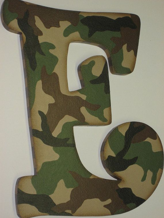 Camo Hunting Theme Hand Painted Wall Letters To By
