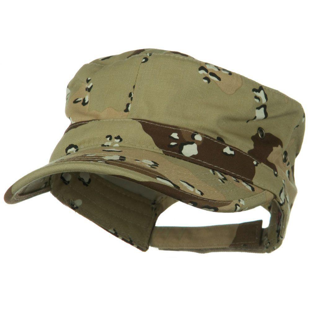 Adjustable Trendy Army Style Cap - Desert Camo
