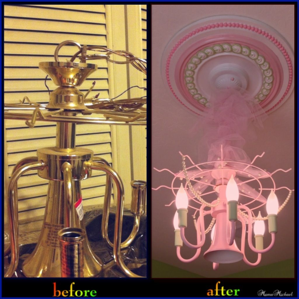 diy girls chandelier house pinterest girls chandelier and chandeliers. Black Bedroom Furniture Sets. Home Design Ideas