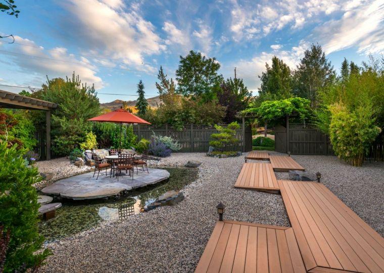 Aménagement paysager de jardin et extérieur zen contemporary patiobackyard garden ideasbackyard retreatlandscape lightinggravel landscapingbeautiful