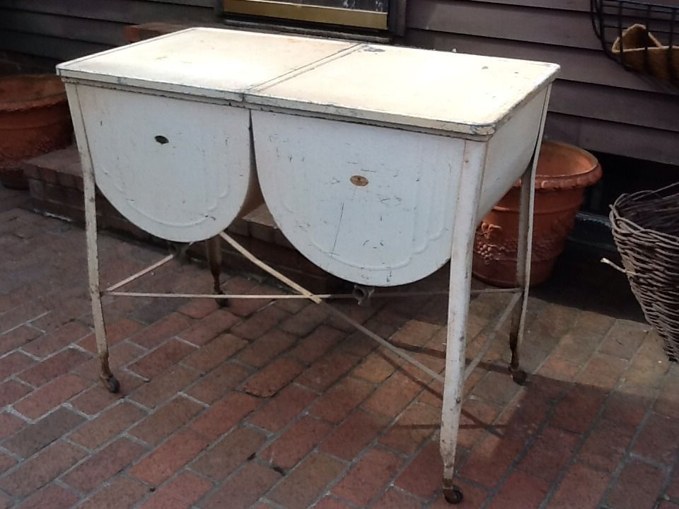 Vintage Celina Galvanized Double Wash Tub On Wheels With Lids Nice Ebay Galvanized Wash Tub Wash Tubs Wash Tub Sink