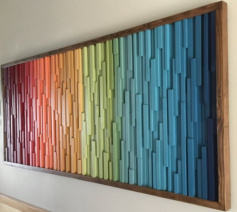 Modern Wood Art Wood Wall Art Colorful Wall Art Reclaimed Etsy Wood Wall Art Diy Reclaimed Wood Art Hospitality Art