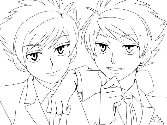 ouran highschool coloring pages - photo#9