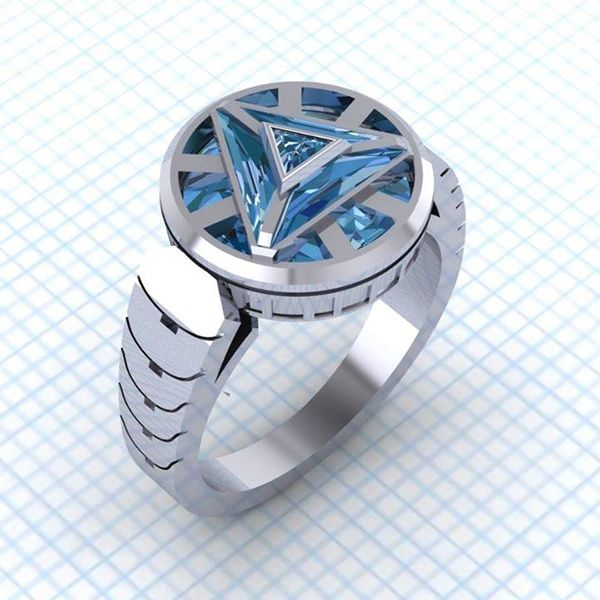 Power Your Jewelry Box With This Arc Reactor Ring Mens Jewelry Marvel Jewelry Jewelry