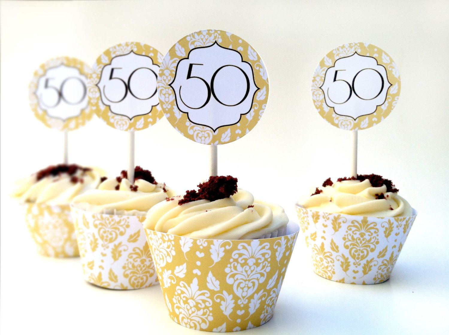 Instant Download 50th Anniversary DIY Cupcake by whirligigspartyco ...