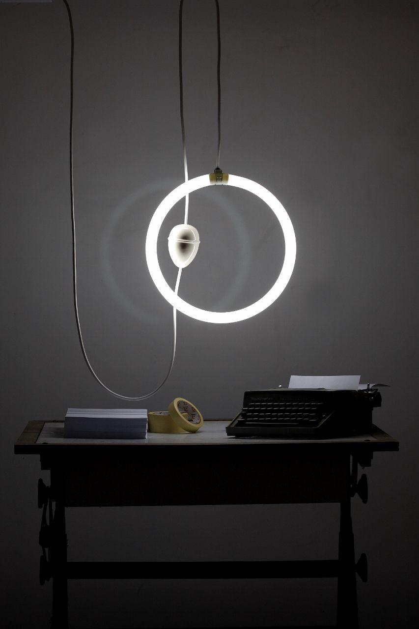 contemporary modern ceiling pulley lamp  iguazu neon  - contemporary modern ceiling pulley lamp  iguazu neon (fluorescent) system…