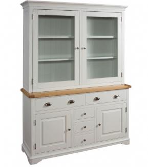 Lowa Painted Grey Oak Country Style Large Dresser SideboardLarge DresserDining Room