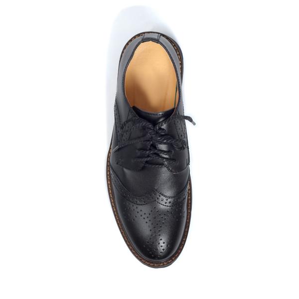 5d95b5efbd1 Black Tomboy Toes Roguish Brogue Semi-Formal Derby Oxford Shoe in Vegan  Leather - Men s Dress Shoe for Women