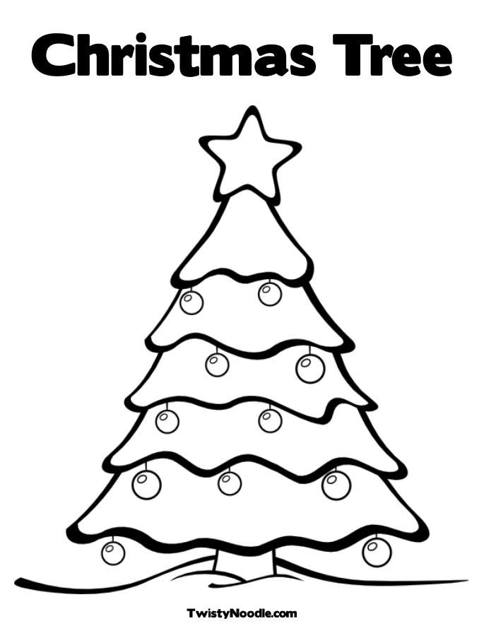 Pictures Of Christmas Trees To Color Coloring Christmas Tree