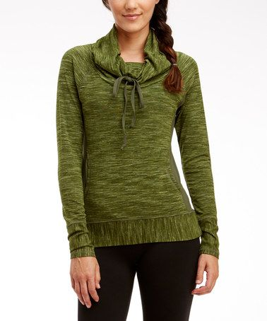 Another great find on #zulily! Sergeant Green Happy Camper Cowl Neck Sweatshirt #zulilyfinds