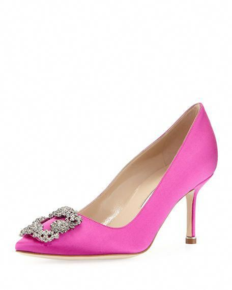 57cd1b174d98 MANOLO BLAHNIK Hangisi Satin 70Mm Pump