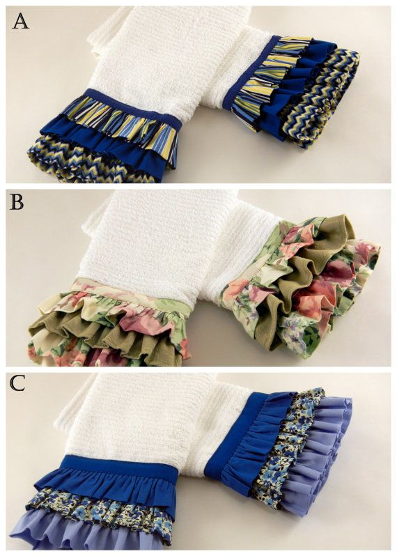 """Ruffled Kitchen Towels-Set of Two-Great Gift Idea! Great MOTHER'S DAY GIFT!!  BY""""  covermethis.biz"""