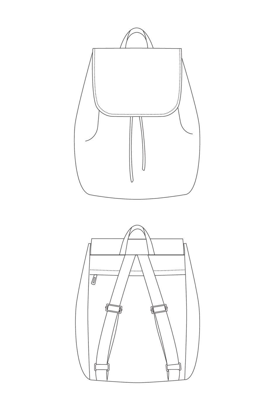 London Backpack Sewing Pattern by LBG Studio   Turnbeutel, Rucksäcke ...