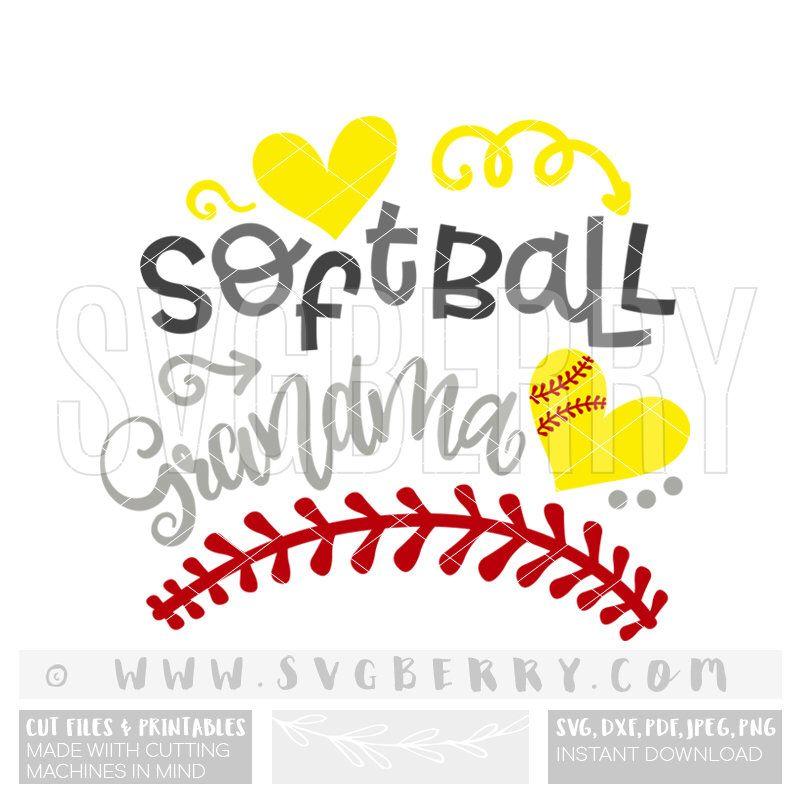 Softball Grandma SVG / softball nana softball mimi svg