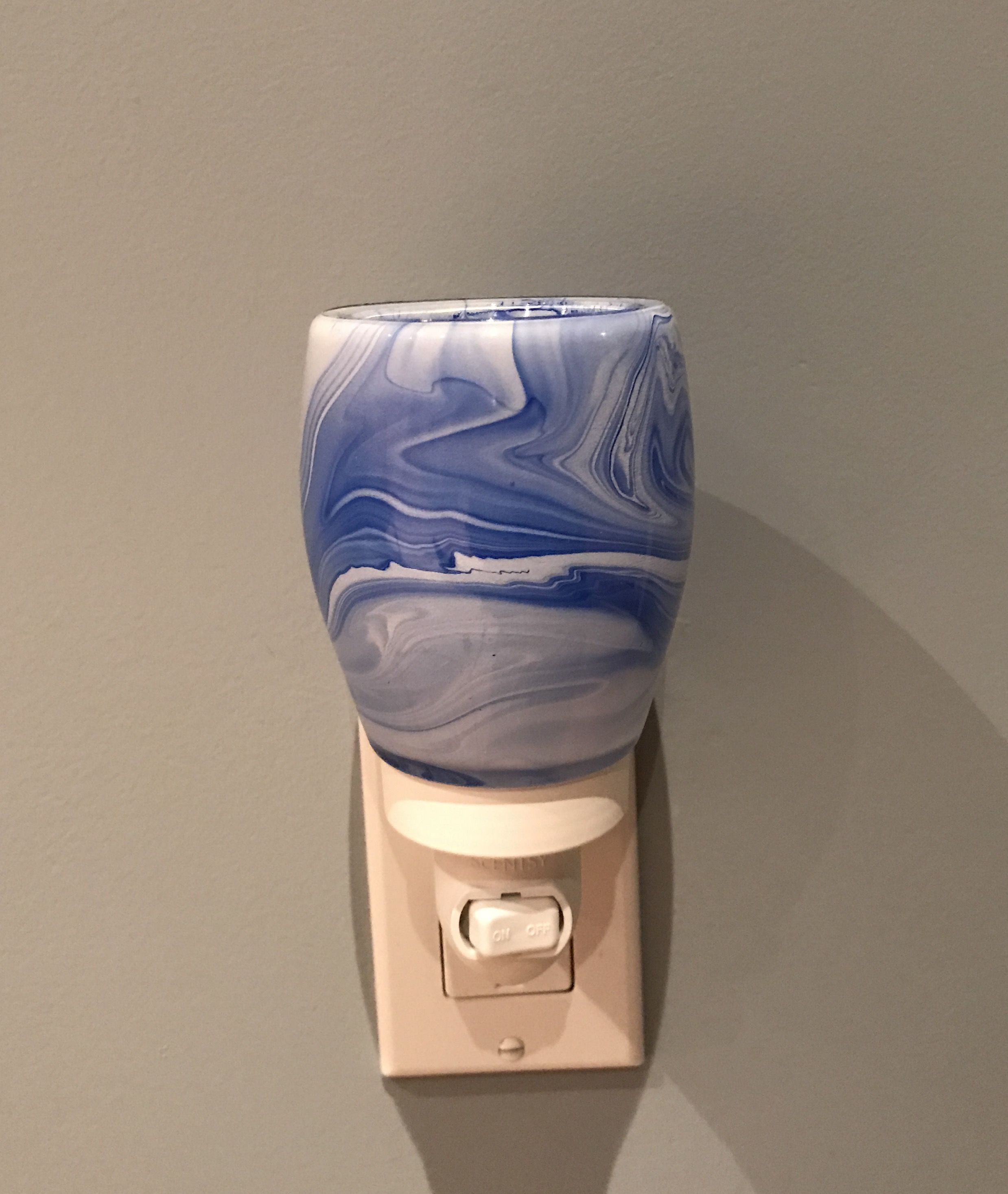 Beautiful Piece Of Art Blue Watercolour Plug In Nightlight Warmer