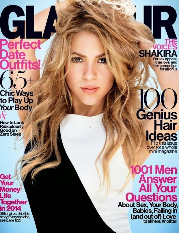 Magazines The Charmer Pages Shakira Covers for Glamour