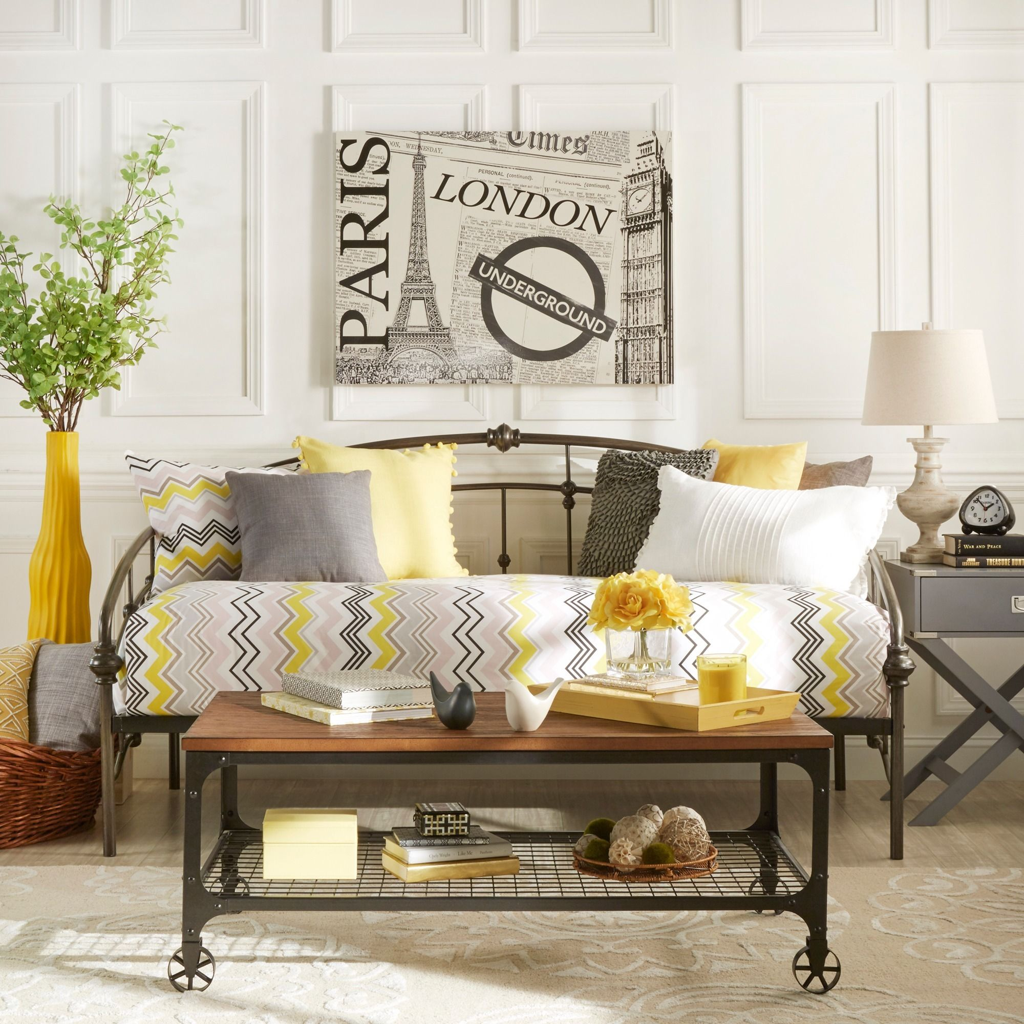 Lacey Round Curved Double Top Arches Victorian Iron Metal Daybed by iNSPIRE  Q Classic (Antique
