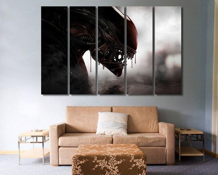 Alien art alien canvas alien decor alien photo alien