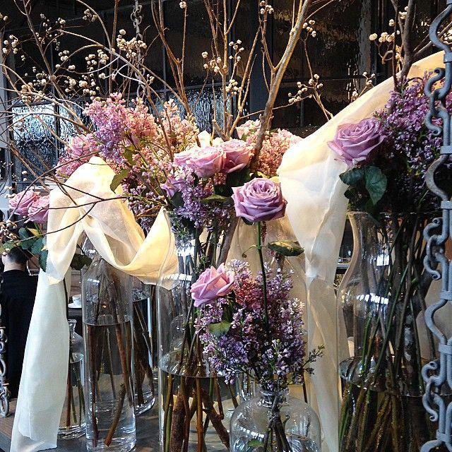 Beautiful flower arrangements by @ufgrangehall  