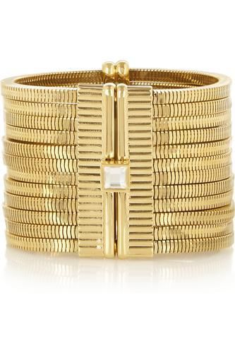 Gold-tone crystal bracelet #accessories #women #covetme #lanvin